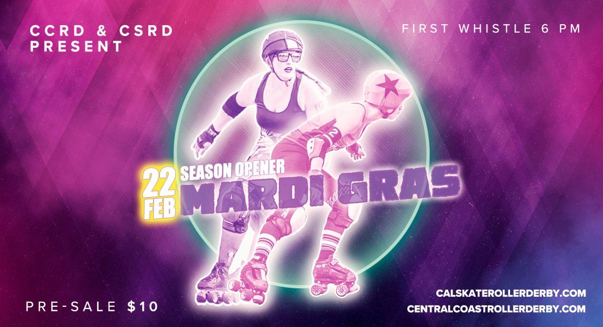 Roller Derby_CSRD_CCRD_MargiGrasBout_EventCover